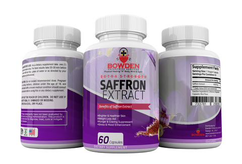 Extra-Strength Saffron Extract All Natural, All in One Weight Loss, Appetite Suppressant, Skin Hyperpigmentation, Pain Relief, Stress & Mood Enhancement (60 Vegan Caps)