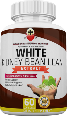Pure & Effective White Kidney Bean Lean Extract (60 Caps) Carb Blocker, Weight Loss and Glucose Support Diabetic Diet Control Elements