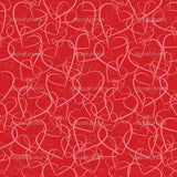 Red Heartin Theme Print Photography Backdrop