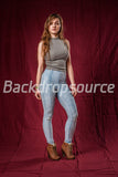 Solid Dark Red Photography Fashion Muslin Backdrop - Backdropsource New Zealand - 3
