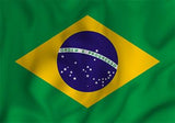 Brazil Country Flag in TrueKolor Wrinkle Free Fabric