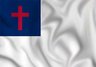 Christian Flag in TrueKolor Wrinkle Free Fabric