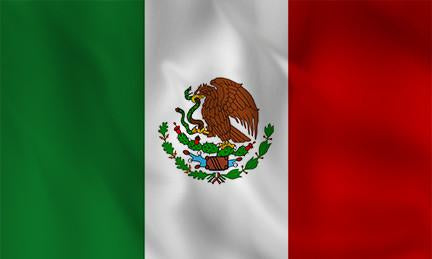 Mexico Country Flag in TrueKolor Wrinkle Free Fabric
