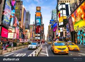New York City Times Square Print Photography Backdrop