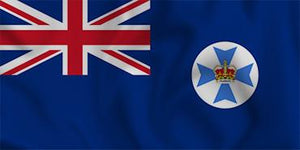 Queensland State Flag in TrueKolor Wrinkle Free Fabric