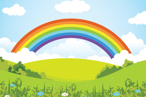 Rainbow Landscape Illustration Backdrop