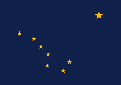 Alaska State Flag in TrueKolor Wrinkle Free Fabric