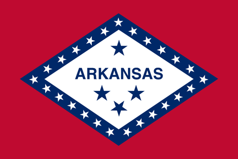 Arkansas State Flag in TrueKolor Wrinkle Free Fabric