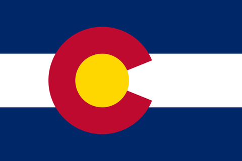 Colorado State Flag in TrueKolor Wrinkle Free Fabric