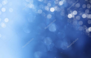 Blue Lights Bokeh Print Photography Backdrop