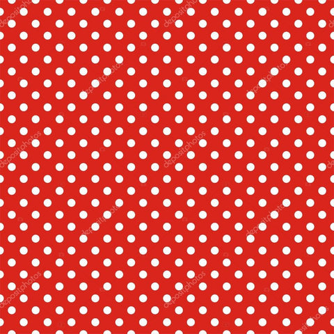Red Retro Seamless Vector Dots Print Photography Backdrop