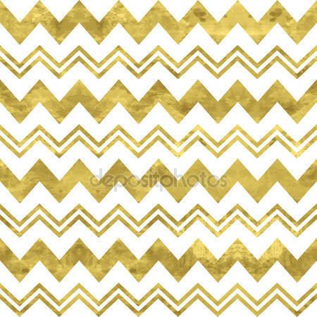 White and Gold Chevron Print Photography Backdrop