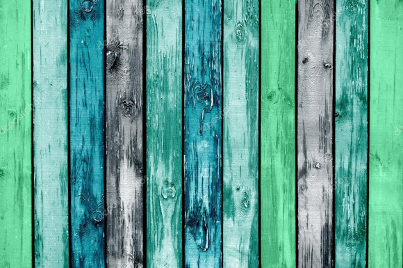 Painted Wooden Planks Print Photography Backdrop
