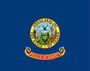 Idaho State Flag in TrueKolor Wrinkle Free Fabric