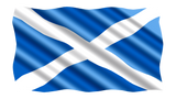 Scotland St Andrew's Cross Flag in TrueKolor Wrinkle Free Fabric