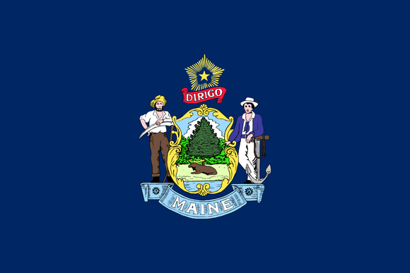 Maine State Flag in TrueKolor Wrinkle Free Fabric