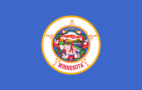 Minnesota State Flag in TrueKolor Wrinkle Free Fabric