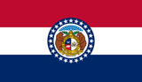 Missouri State Flag in TrueKolor Wrinkle Free Fabric