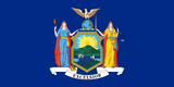 New York State Flag in TrueKolor Wrinkle Free Fabric