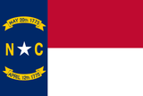 North Carolina State Flag in TrueKolor Wrinkle Free Fabric