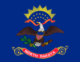 North Dakota State Flag in TrueKolor Wrinkle Free Fabric