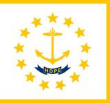 Rhode Island State Flag in TrueKolor Wrinkle Free Fabric