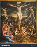 Jesus Crucifixion Paint in Brussles Print Photography Backdrop
