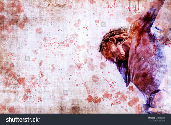 Jesus Christ On The Cross Print Photography Backdrop