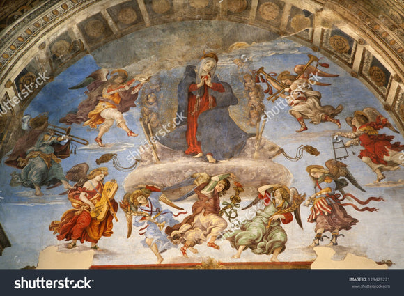 Filippino Lippi's Assumption fresco Print Photography Backdrop