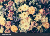 Vintage Old Flower Print Photography Backdrop