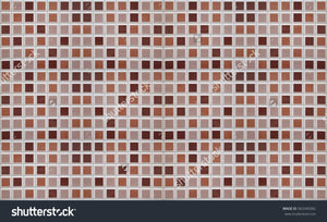 Brown Wall Tile Print Photography Backdrop