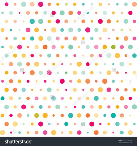 Colourful Dotted Print Photography Backdrop