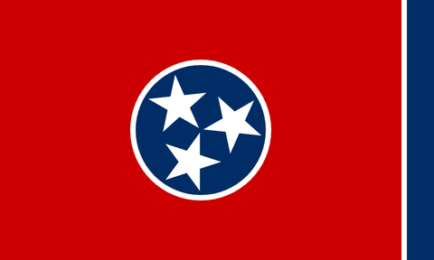 Tennessee State Flag in TrueKolor Wrinkle Free Fabric