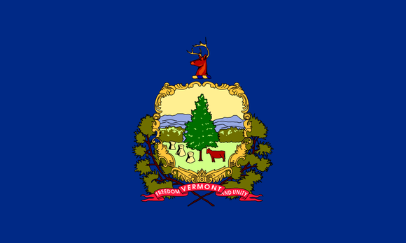 Vermont State Flag in TrueKolor Wrinkle Free Fabric
