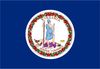 Virginia State Flag in TrueKolor Wrinkle Free Fabric