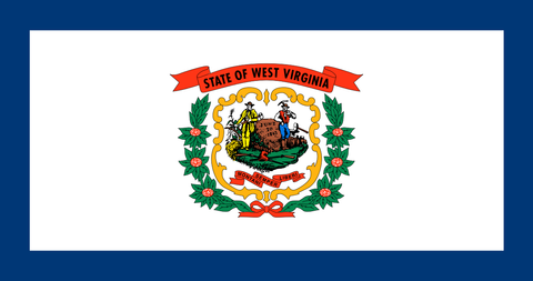West Virginia State Flag in TrueKolor Wrinkle Free Fabric