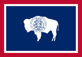 Wyoming State Flag in TrueKolor Wrinkle Free Fabric