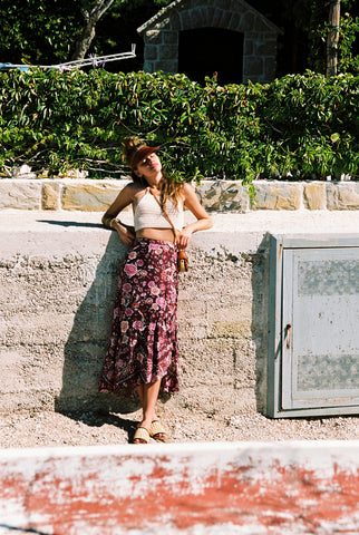PORTOFINO SKIRT IN  AVORIO