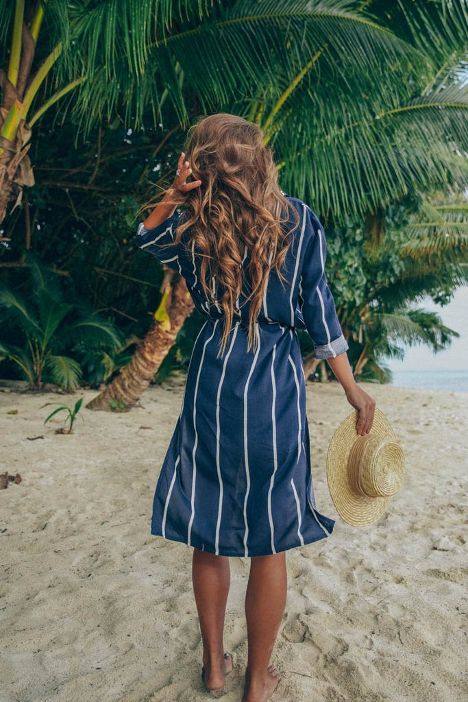 SAIL AWAY DRESS NAVY