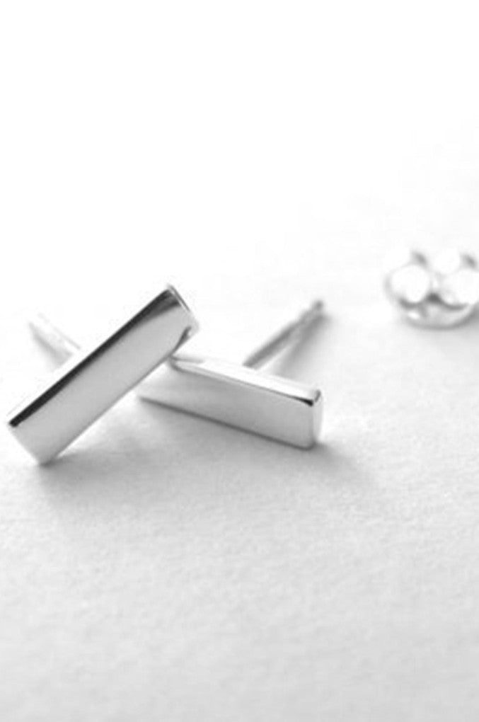 Simple Sterling Silver Bar earrings are discrete yet a statement in themselves.
