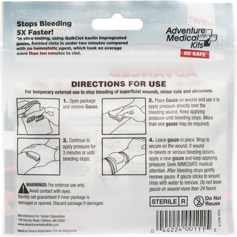 "QuikClot Advanced Clotting Gauze 3""x 24"" (2 Pk) - Wealcan"