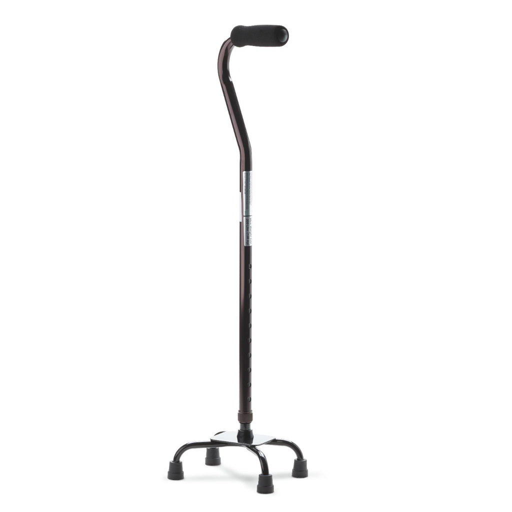 Aluminum Quad Canes Small Base - Black E0105