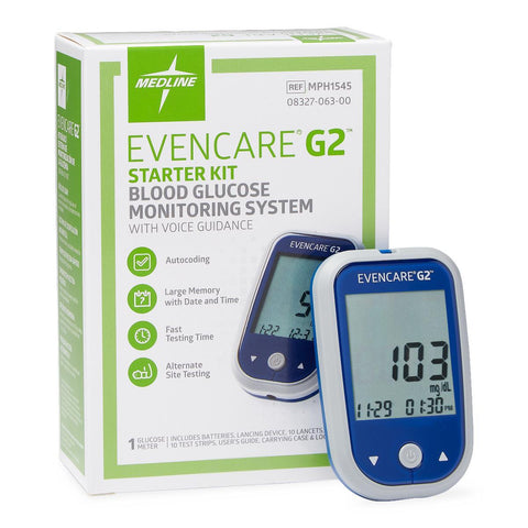 Evencare G2 Glucose Monitoring System Starter Kit