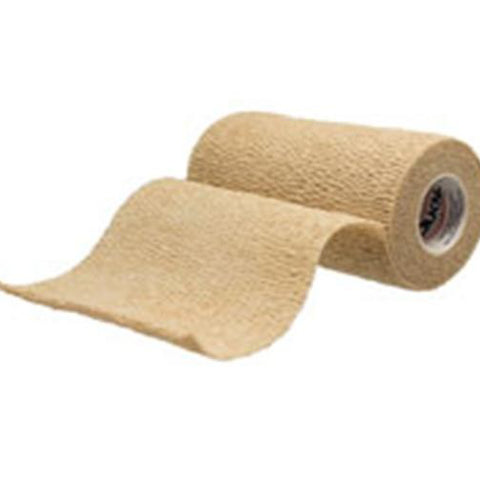 "LF Cohesive Bandage Tan NS 4""x 5yd - Latex Free [A6454] - Wealcan"