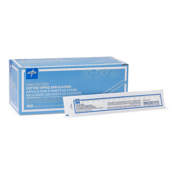 "Cotton Tipped Wood Applicator 6"" Sterile - Box (BX) 200 Each - Wealcan"