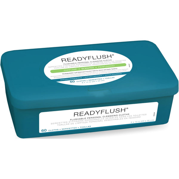 ReadyFlush Bio-degradable Flushable Wipes 8x12 - 60/TUB