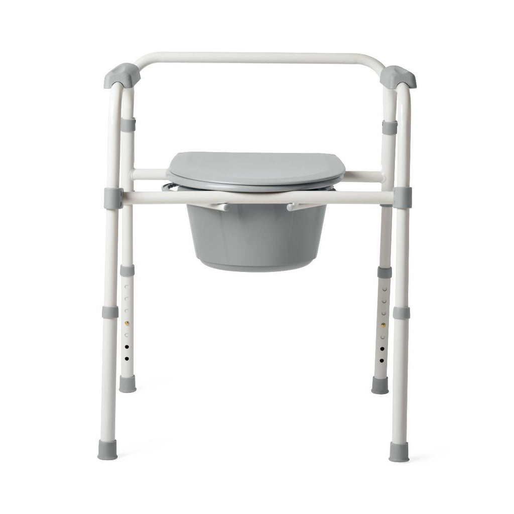3-in-1 Folding Steel Commode 350 lb. Weight Capacity