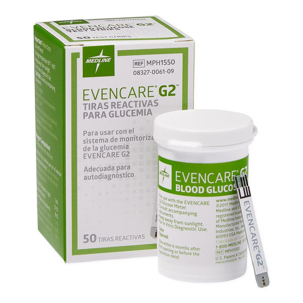 Glucose Test Strips for EvenCare G2 Meter 50 Each(BX)