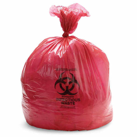 High Density Biohazard Liners 15 GAL 11 MIC - 500/CS - Wealcan