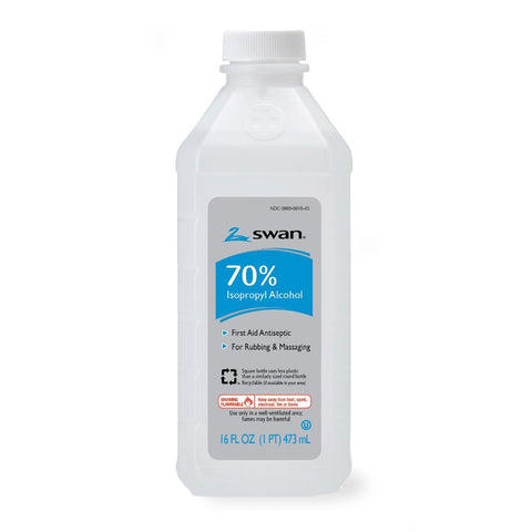 Isopropyl Rubbing Alcohol 70%  16 fl oz - 12 Bottles (CS)